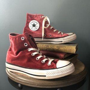 velvet high top converse 7